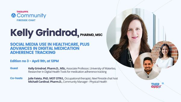 Invitation: Social media use, and medication adherence trackers - Fireside chat 02 - April 9th at 12 PM
